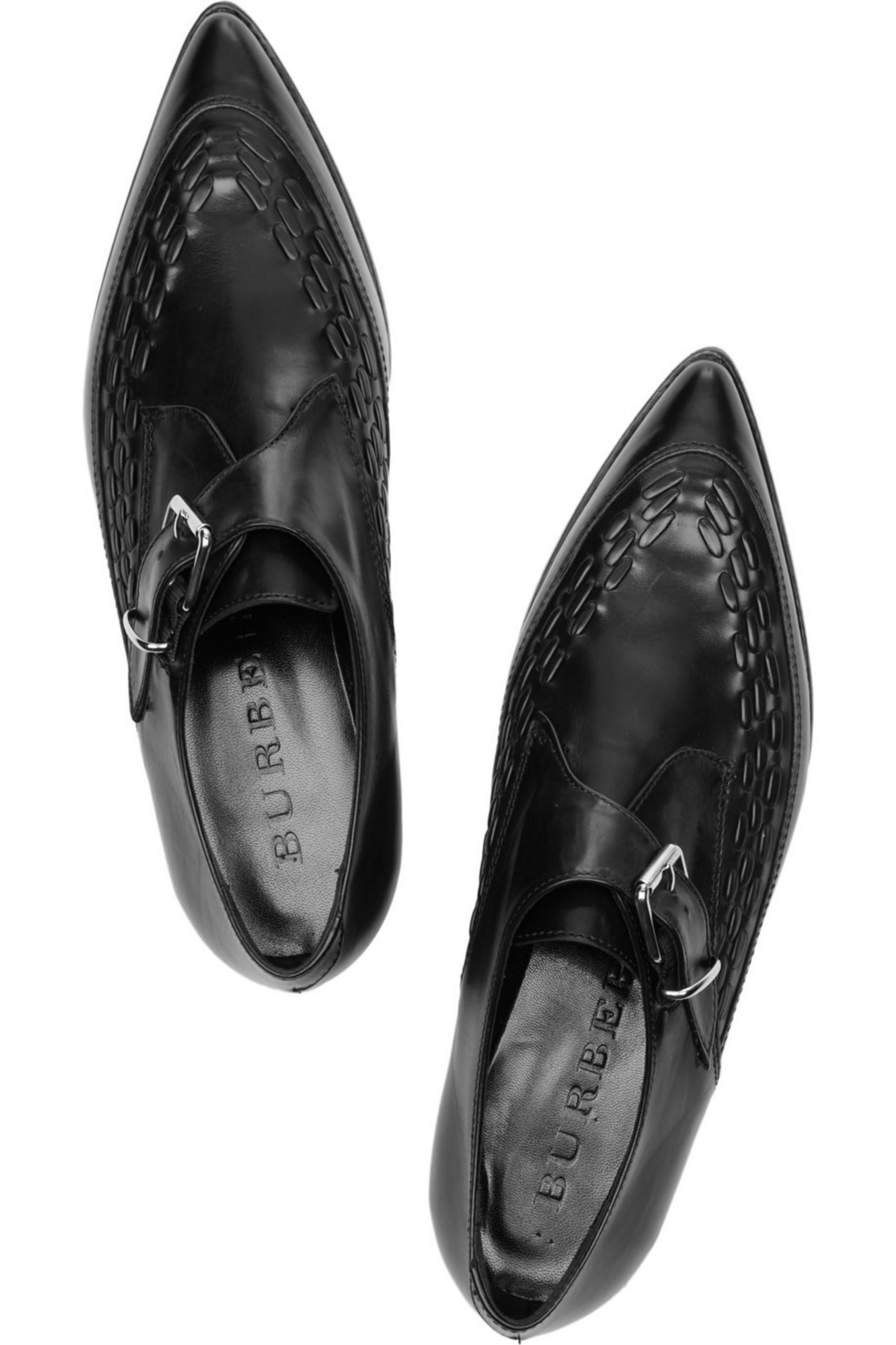 Burberry Monk-strap leather shoes