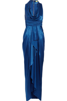 Catherine Malandrino|Ruffled silk-satin gown|NET-A-PORTER.COM from net-a-porter.com