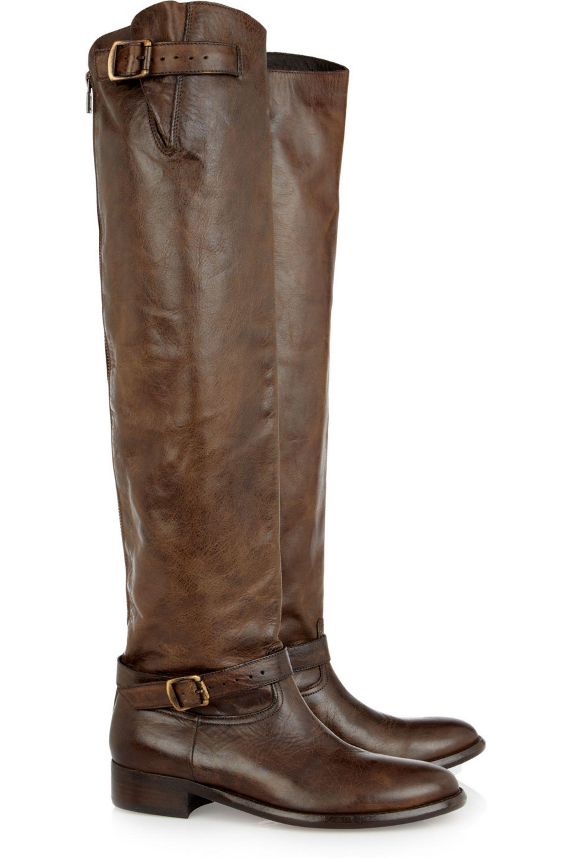 Belstaff Jordan leather knee boots