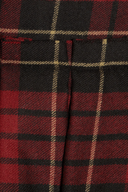 McQ Alexander McQueen Tartan wool puffball mini dress