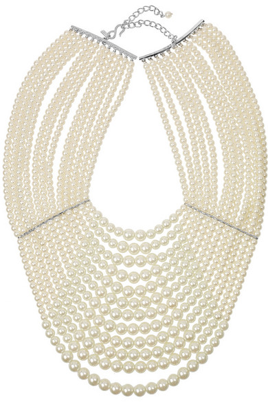 Sale alerts for Multi-strand glass-pearl necklace Kenneth Jay Lane - Covvet