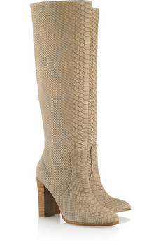 Kors Michael Kors | Enola snake-effect leather knee boots | NET-A-PORTER.COM from net-a-porter.com
