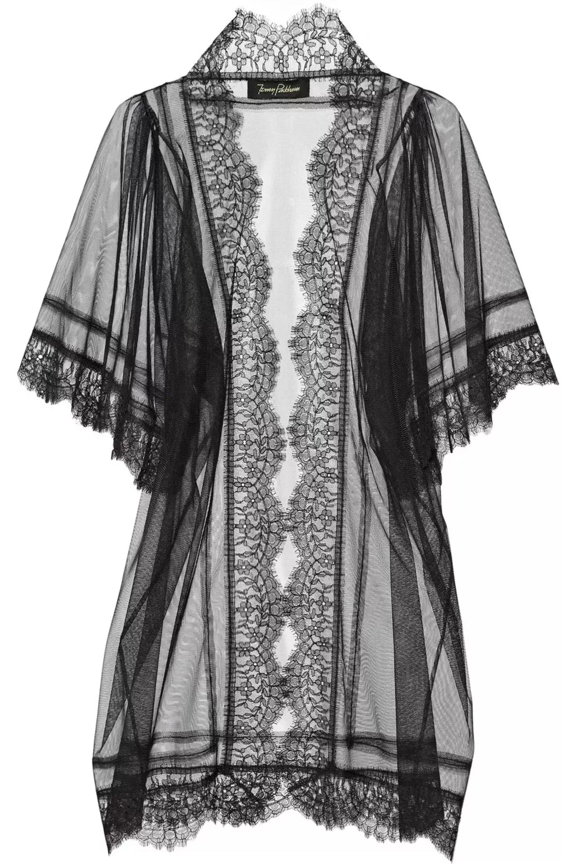 Jenny Packham Swarovski crystal-embellished tulle robe