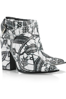 Thakoon | Printed leather ankle boots | NET-A-PORTER.COM from net-a-porter.com