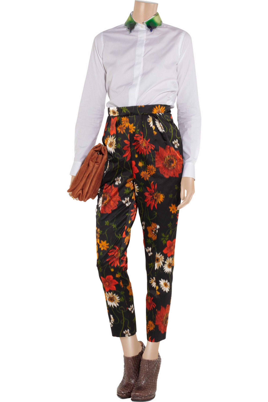Jil Sander Printed silk-satin pants