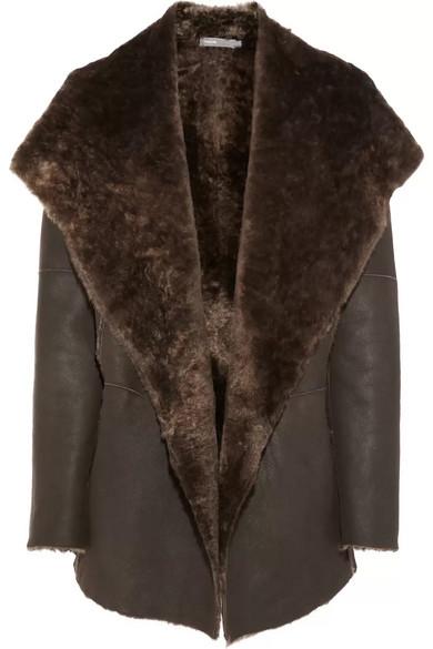Vince | Hooded shearling coat | NET-A-PORTER.COM