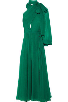 Gucci | Silk-voile asymmetric dress | NET-A-PORTER.COM from net-a-porter.com