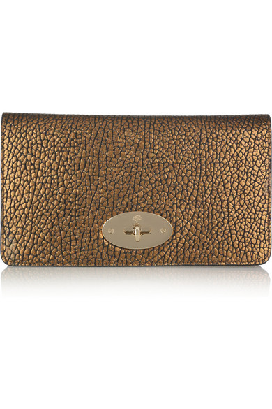 408bb5316c24 ... usa mulberry. bayswater metallic textured leather clutch 43409 b9d74