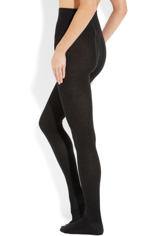 FALKE Soft ribbed merino wool-blend tights