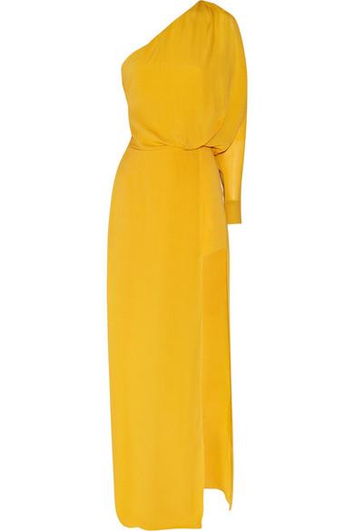 Sale alerts for Emile silk one-shoulder dress Acne Studios - Covvet