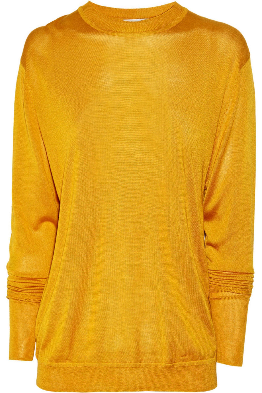 Acne Studios Etienne cutout fine-knit silk sweater