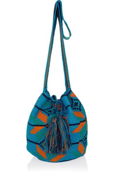 Wayúu Taya Mochilla Knitted Cotton Crossbody Bag