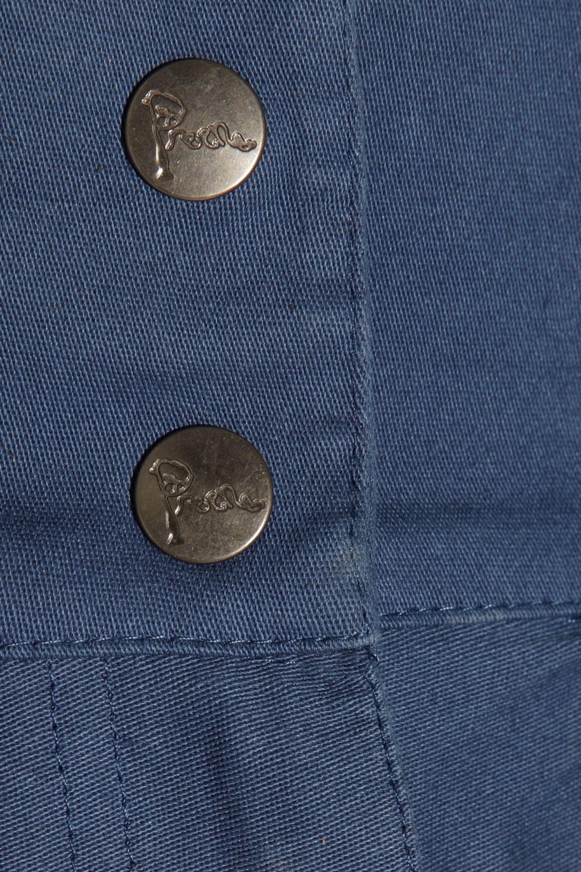 Preen Line Bianca high-waisted stretch cotton-drill skirt