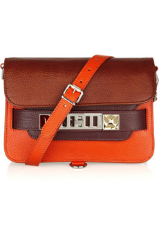 Proenza Schouler | PS11 Mini Classic textured-leather shoulder bag | NET-A-PORTER.COM from net-a-porter.com