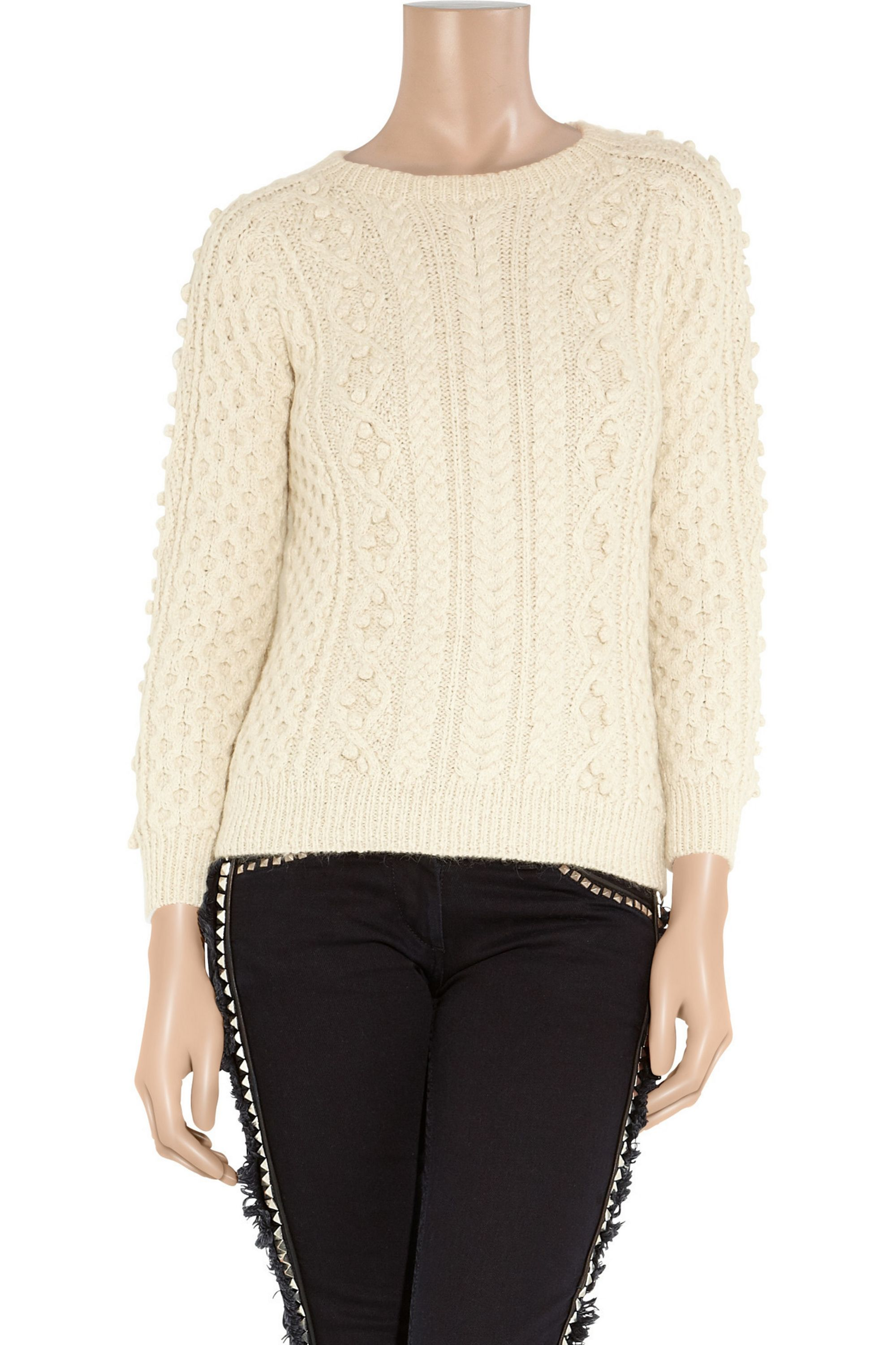 Isabel Marant Anui cable-knit alpaca-blend sweater