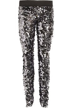 Dolce & Gabbana Paillette-embellished tulle pants