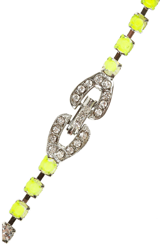 Tom Binns Slap Dash Swarovski crystal bib necklace