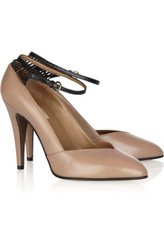 Valentino | Capretto knot two-tone leather pumps | NET-A-PORTER.COM from net-a-porter.com