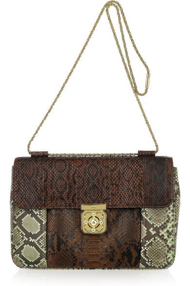 908f289b093 Chloé. Elsie Medium python shoulder bag. £846.43. Zoom In