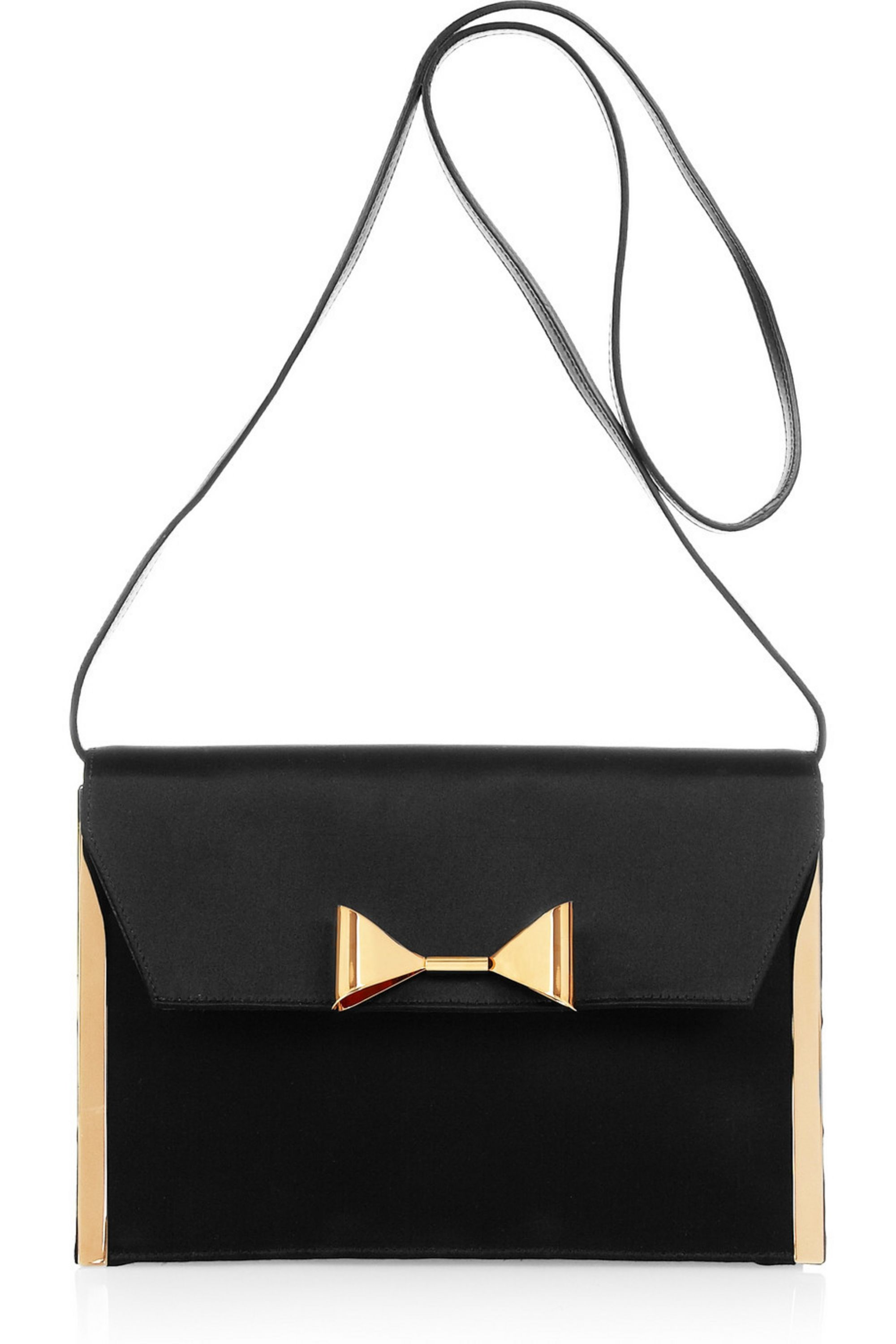 Chloé Rachel bow-embellished satin clutch