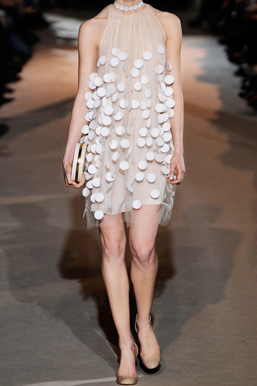 Stella McCartney Spot-appliquéd tulle dress