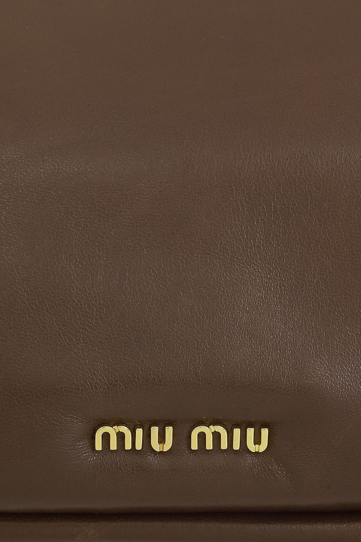 Miu Miu Framed nappa leather clutch