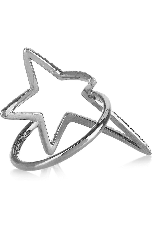 Diane Kordas Star 18-karat blackened gold diamond ring