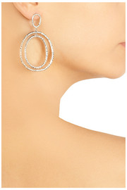 Ileana Makri Again 18-karat white gold diamond drop earrings