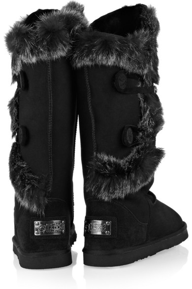 c4a845d013e Nordic Angel rabbit and shearling boots