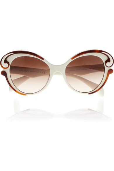 Sale alerts for Butterfly-frame acetate sunglasses Prada - Covvet