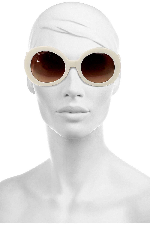 Prada Eyewear Round-frame acetate sunglasses
