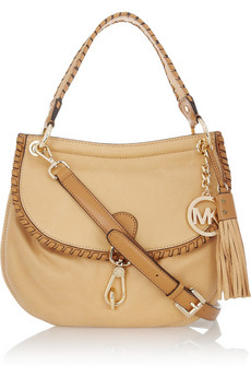 MICHAEL Michael Kors | Bennet leather shoulder bag  | NET-A-PORTER.COM
