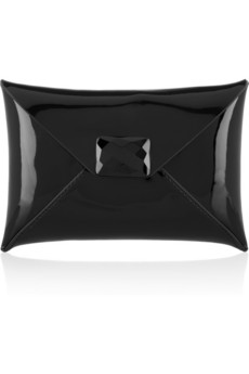 Anya Hindmarch | Patent-leather envelope clutch | NET-A-PORTER.COM from net-a-porter.com