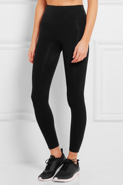 Look-At-Me stretch cotton-blend leggings