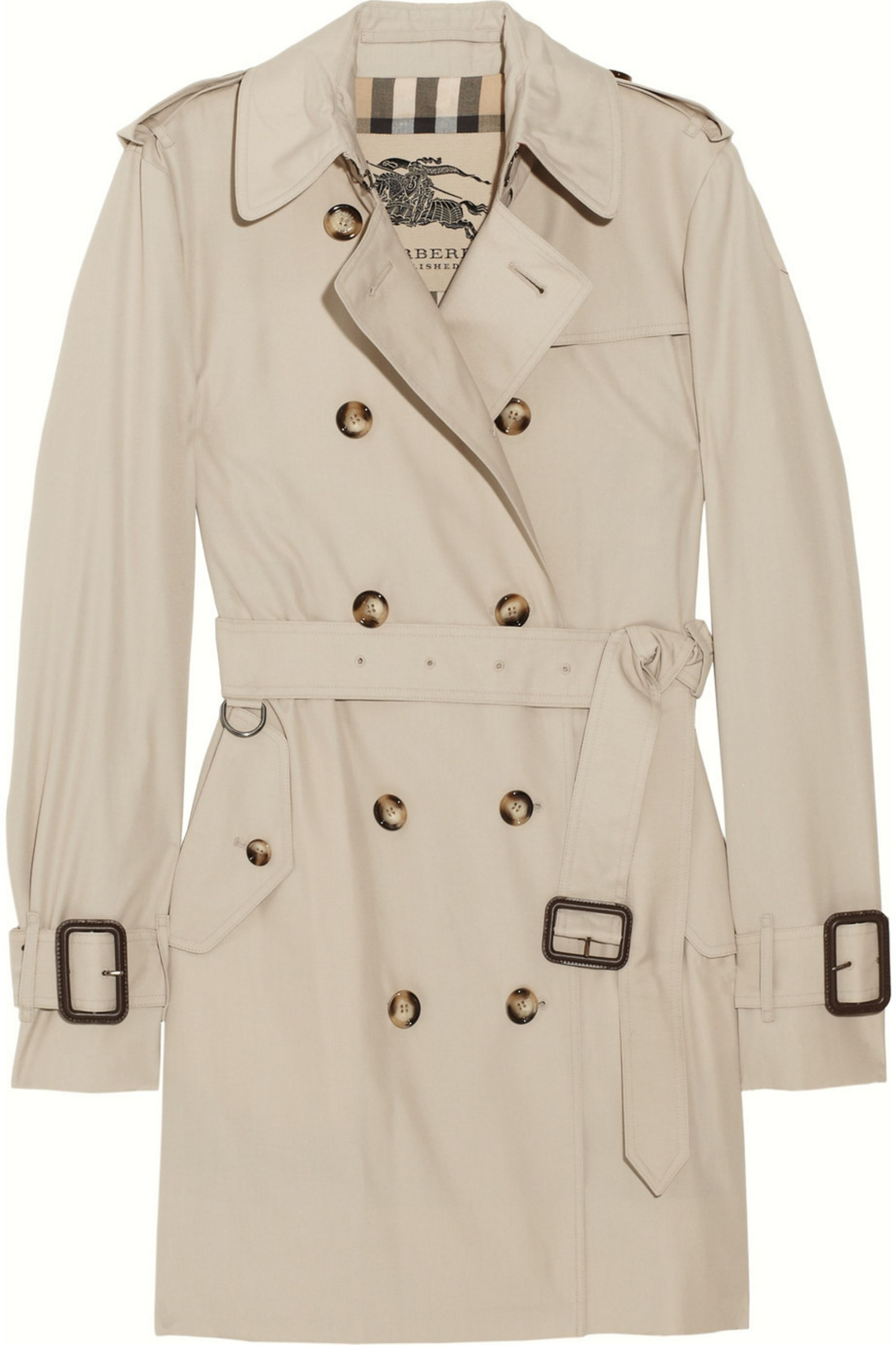 Burberry Mid-length gabardine trench coat