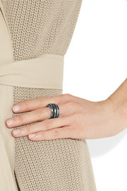 Bottega Veneta Intrecciato ruthenium-plated silver coil ring