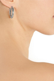 Bottega Veneta Intrecciato silver hoop earrings