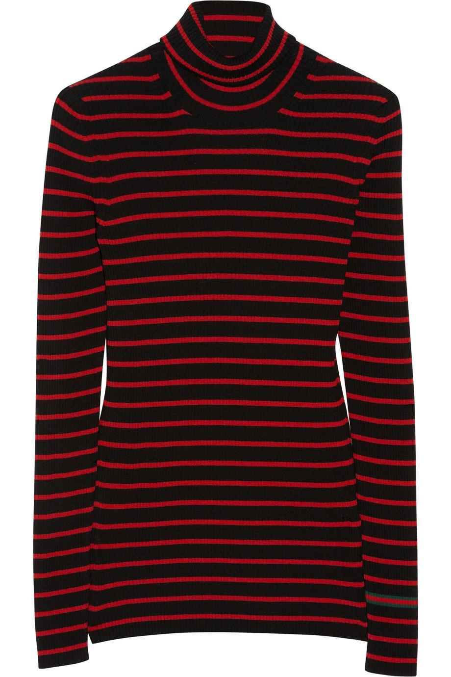 Gucci Striped Wool Turtleneck Sweater, Size: XXL