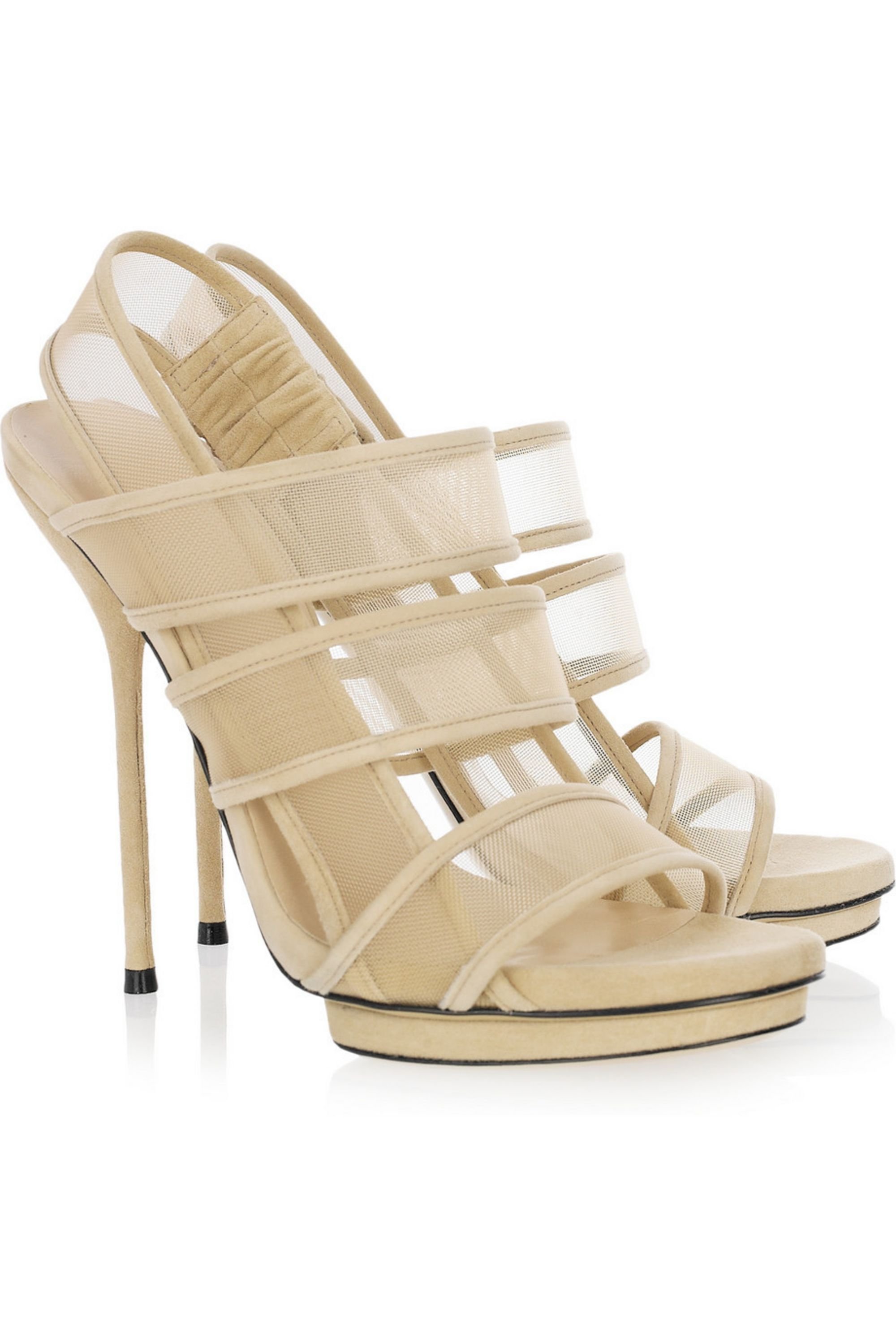 Gucci Mesh and suede sandals