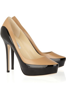 Jimmy Choo | Sepia two-tone leather pumps | NET-A-PORTER.COM