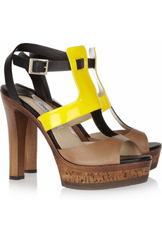 Jimmy Choo | Samos patent-detailed leather sandals | NET-A-PORTER.COM