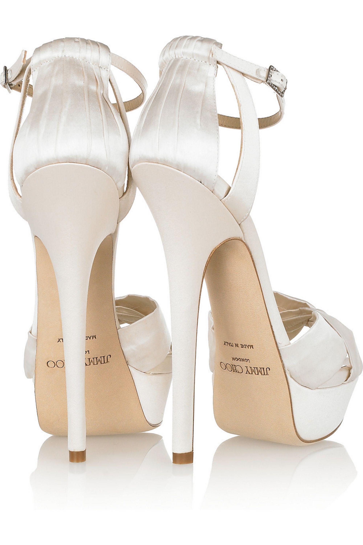 Jimmy Choo Fairy satin platform sandals