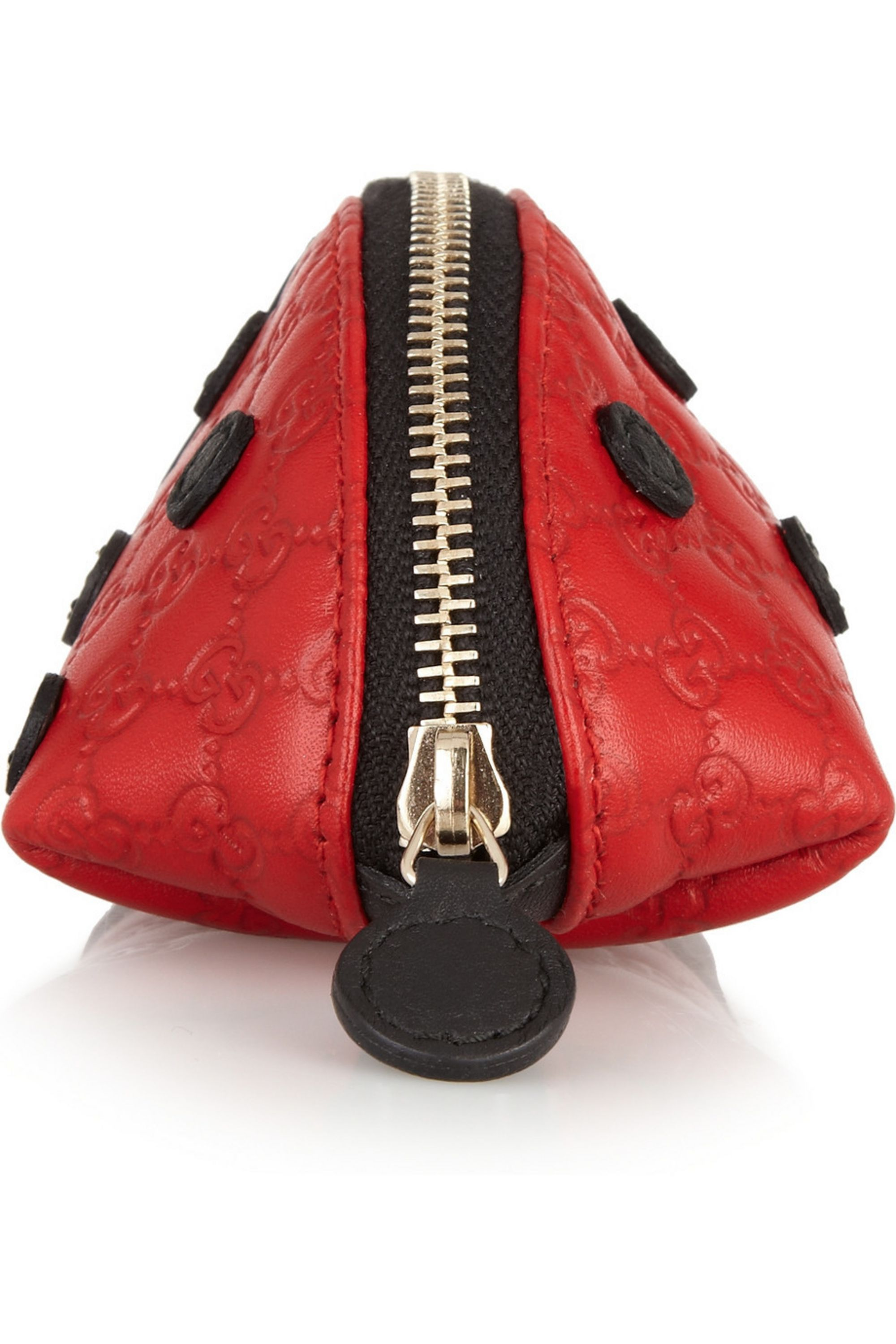 Gucci Lady Bug leather coin purse