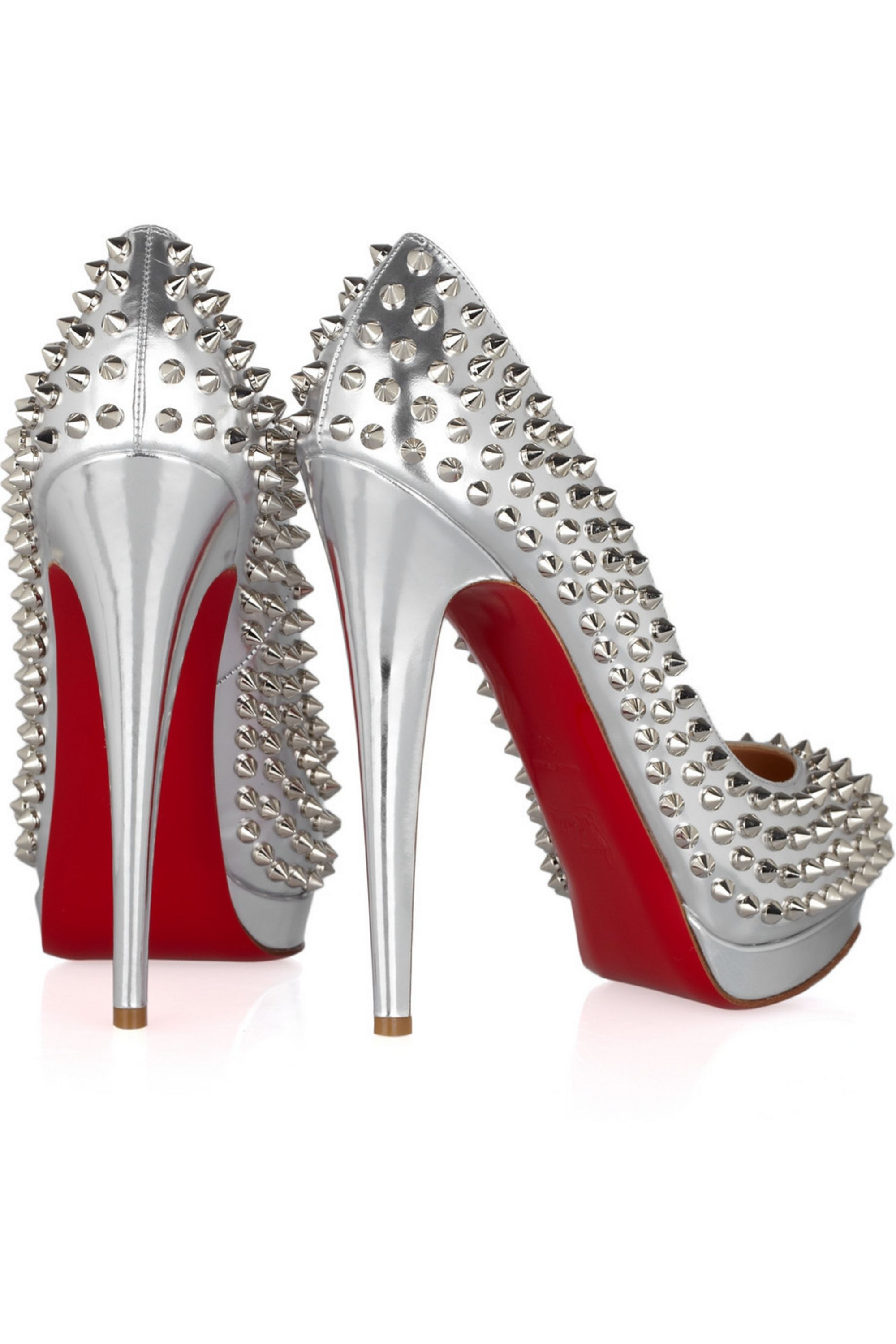 Christian Louboutin Alti 160 spiked metallic leather pumps