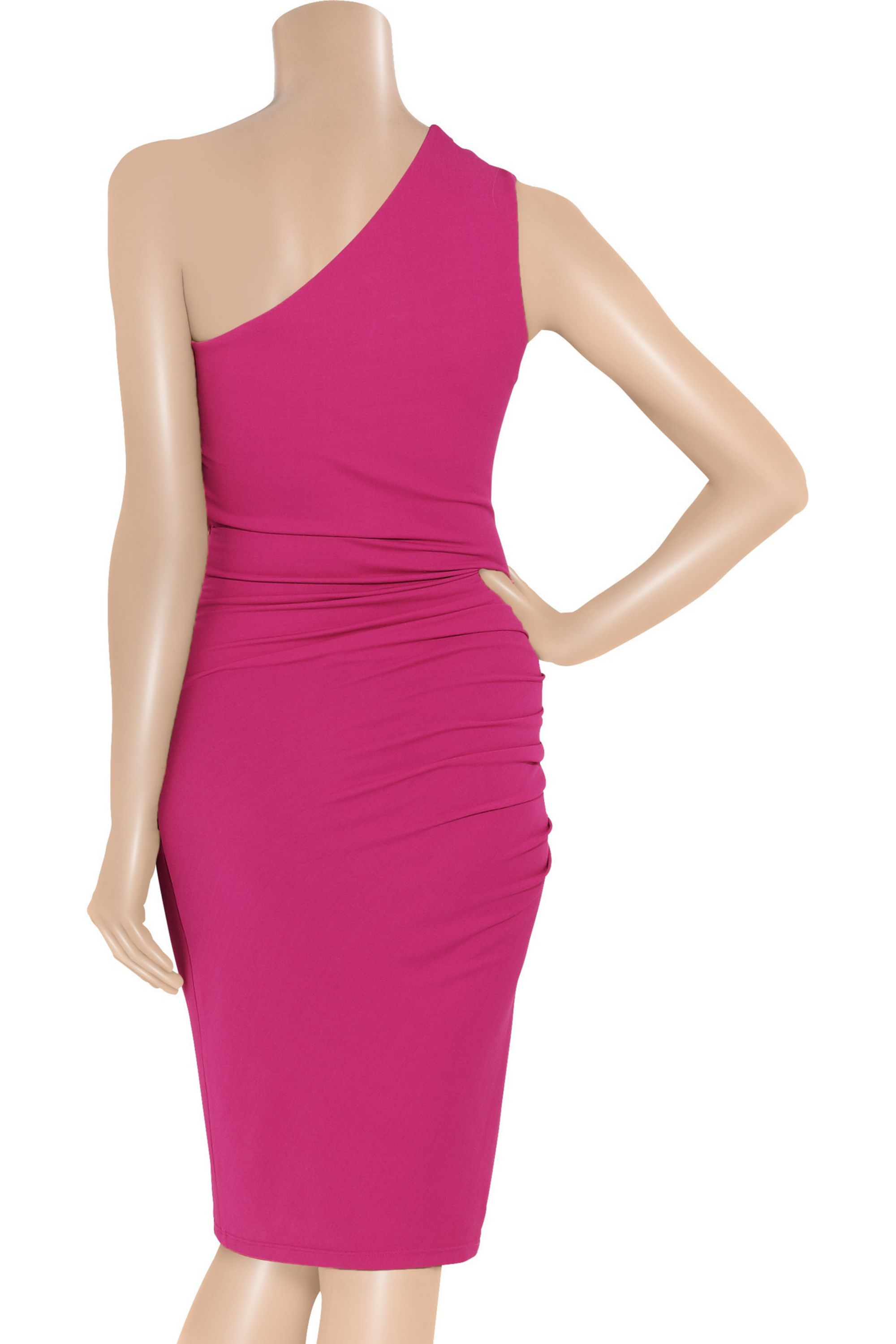 Michael Kors Collection One-shoulder stretch-jersey dress