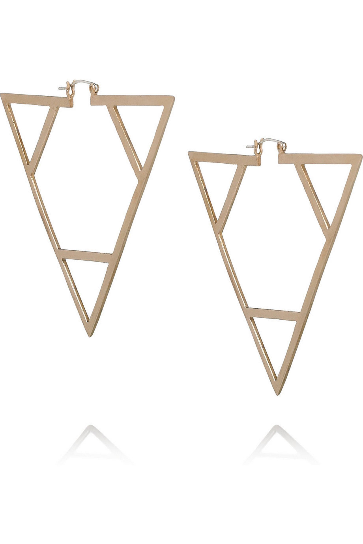 Pamela Love Bronze triangle earrings