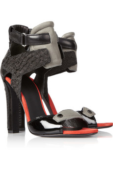 Alexander Wang | Chloe perch-trimmed leather sandals | NET-A-PORTER.COM