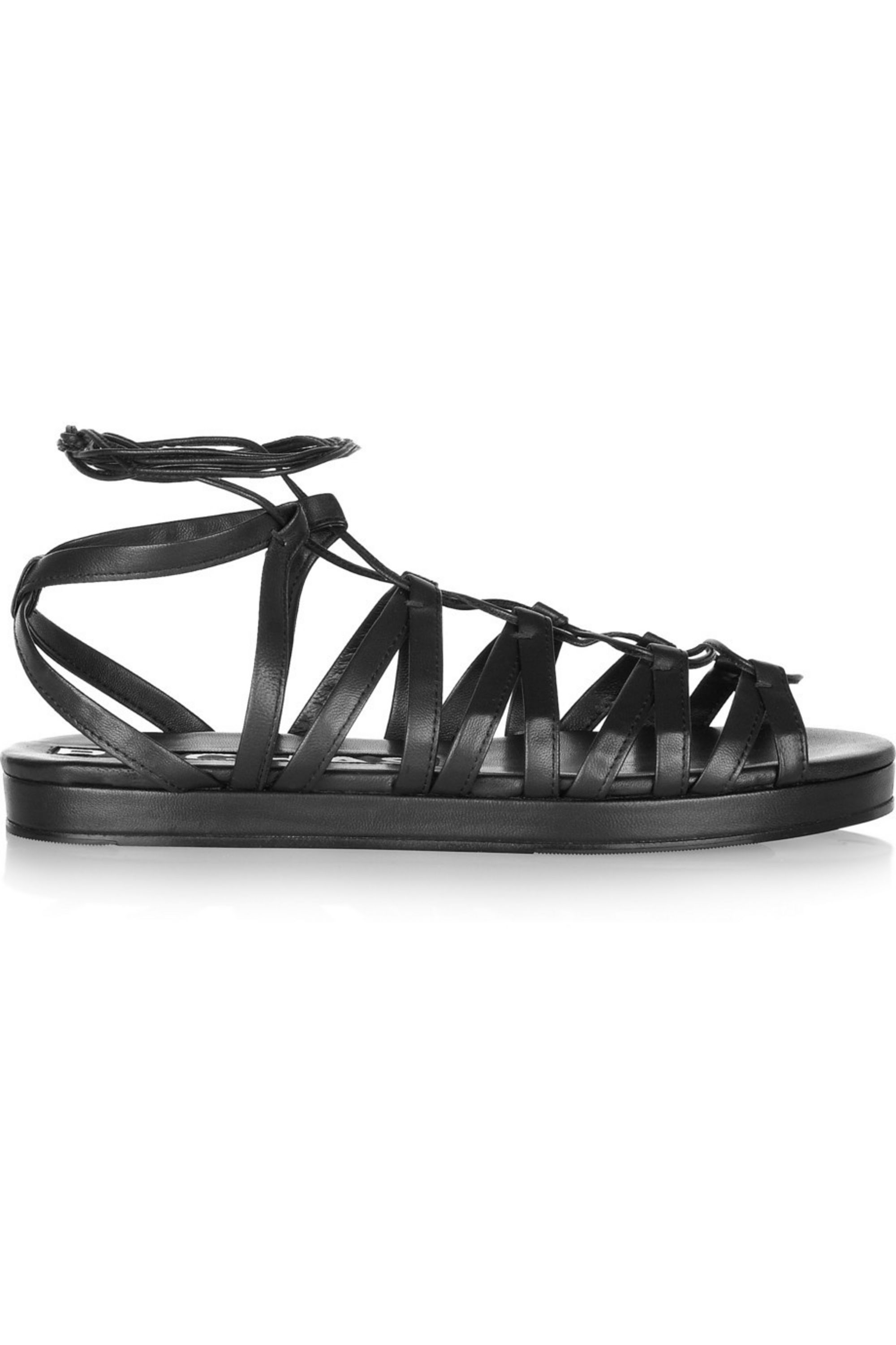 Rochas Leather gladiator sandals