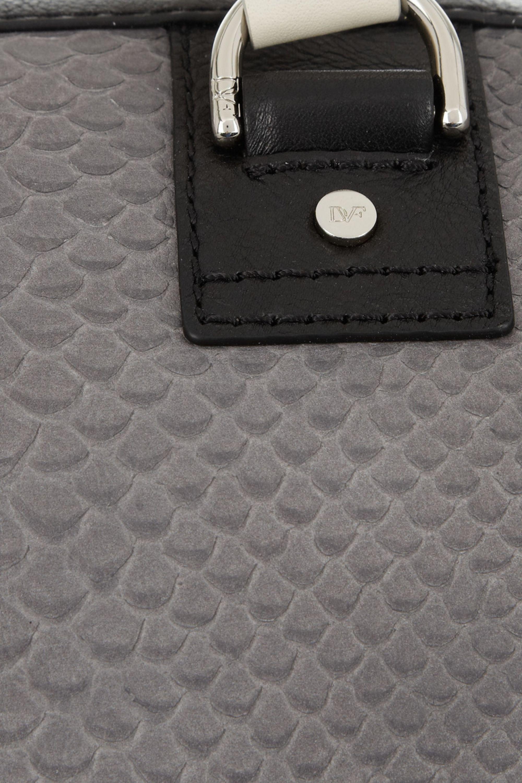 Diane von Furstenberg Sporty Drew python-effect leather tote