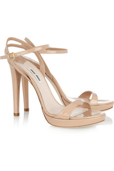 Miu Miu | Patent-leather sandals | NET-A-PORTER.COM from net-a-porter.com